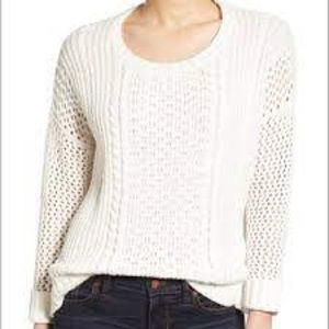 Madewell Karlie Cable Knit Sweater; perfect for fall/winter gathering. Size: XXS